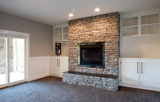 basement on pinterest basement fireplace basements and corner